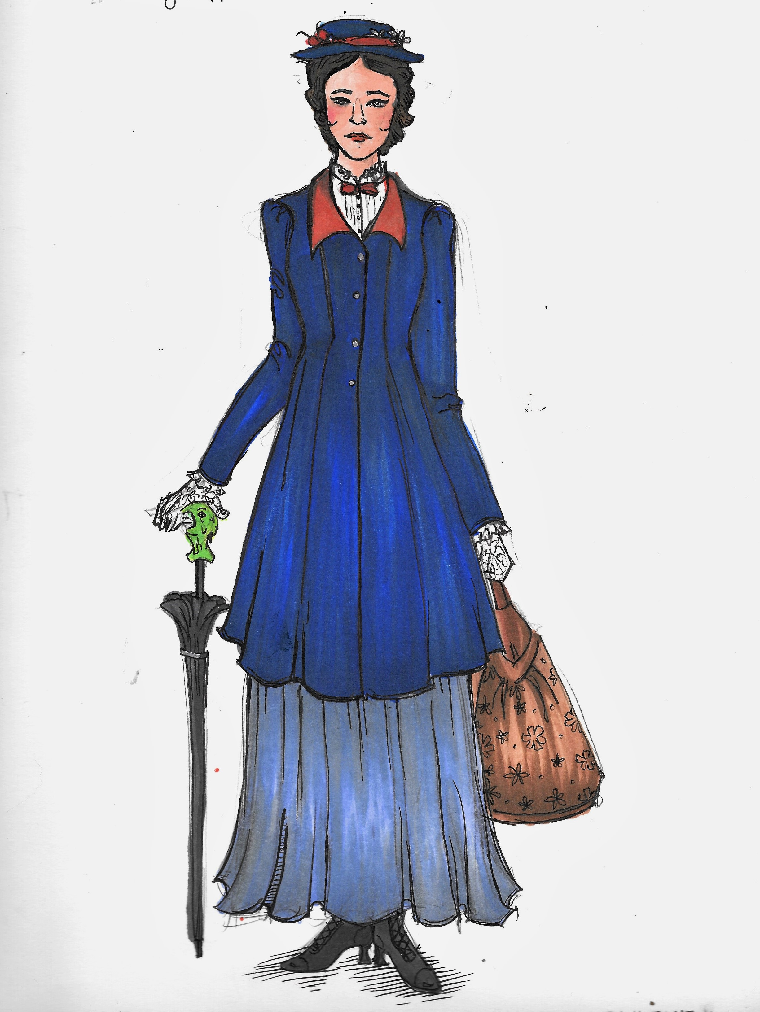 Mary Poppins look 1  rendering