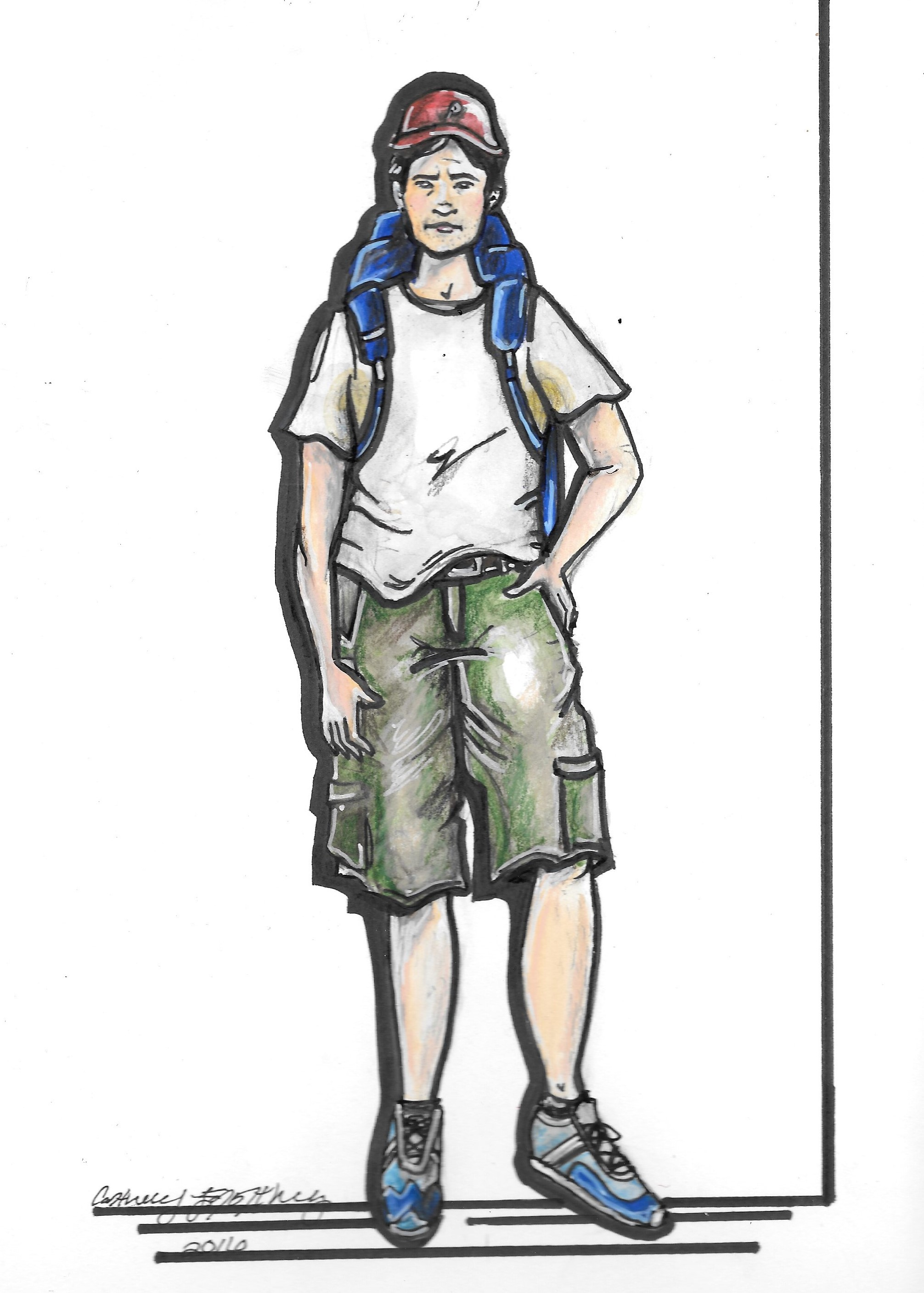 Rendering for Pete. Hiking look 1