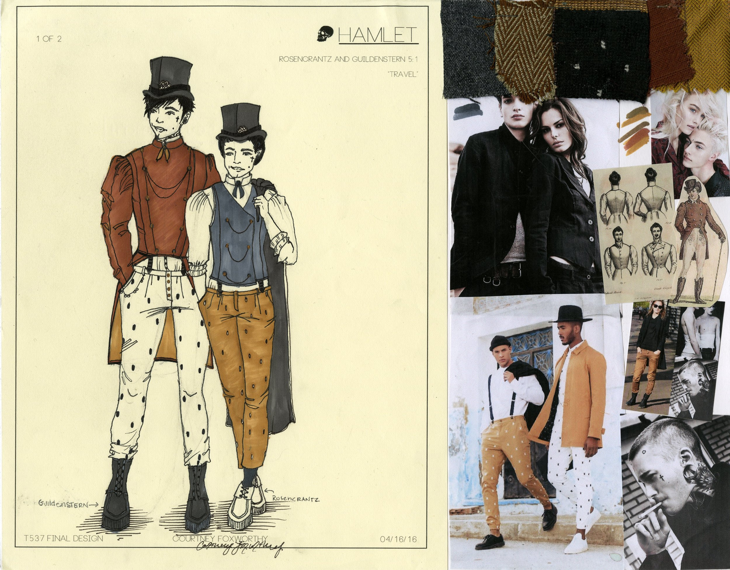 Rosencrantz and Guildenstern look 1 (travel clothes)