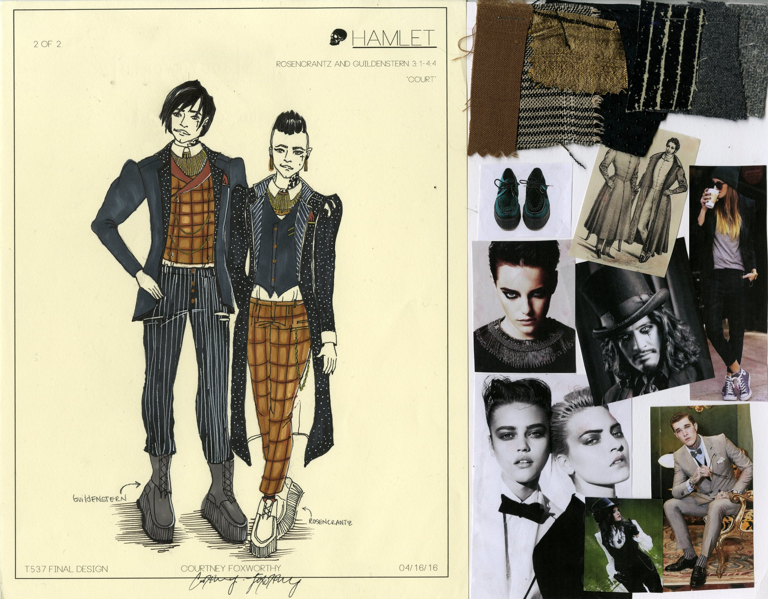 Rosencrantz and Guildenstern look 2 (court clothes)
