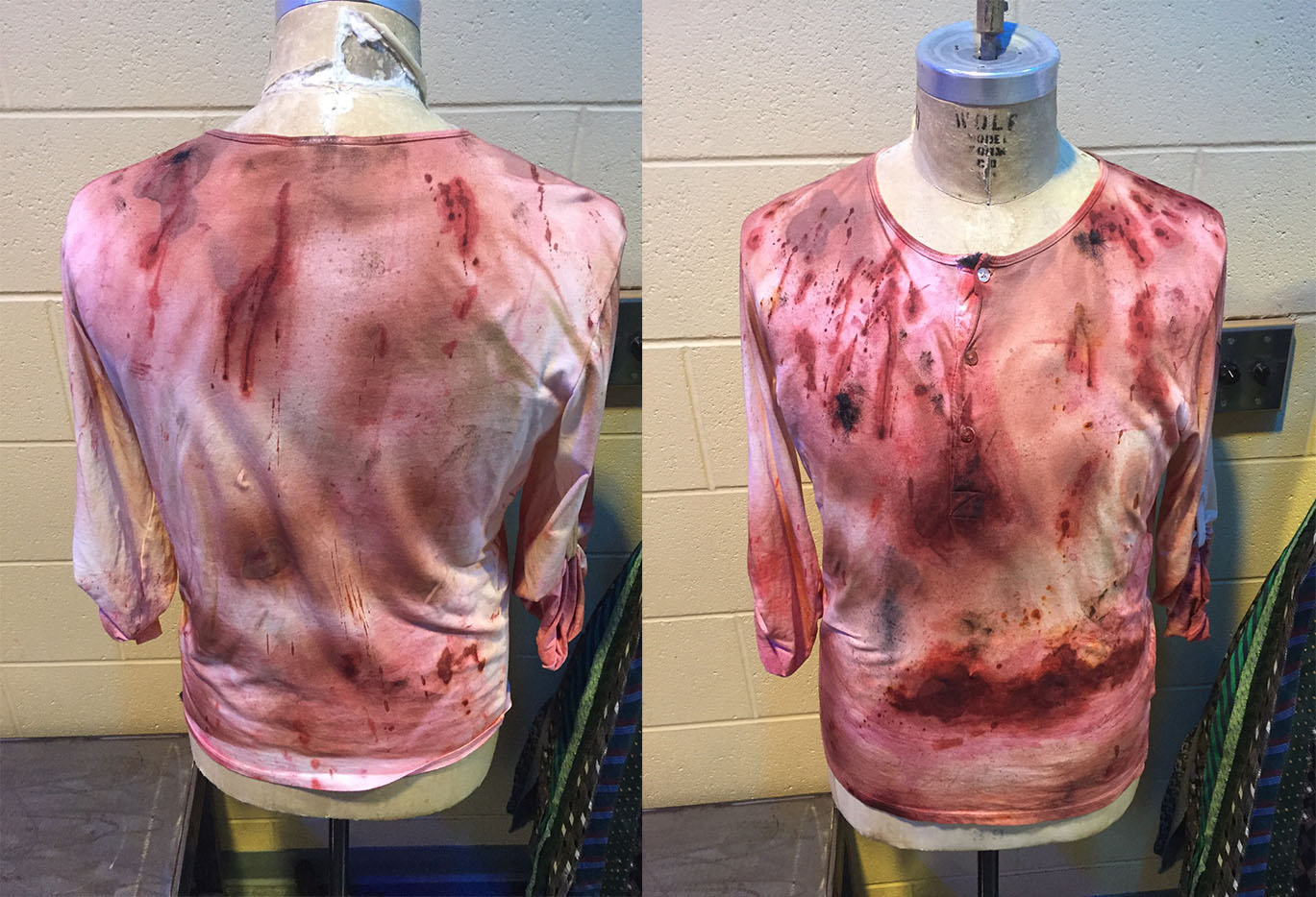 Bloodied shirt distressed for Berserker. 2016