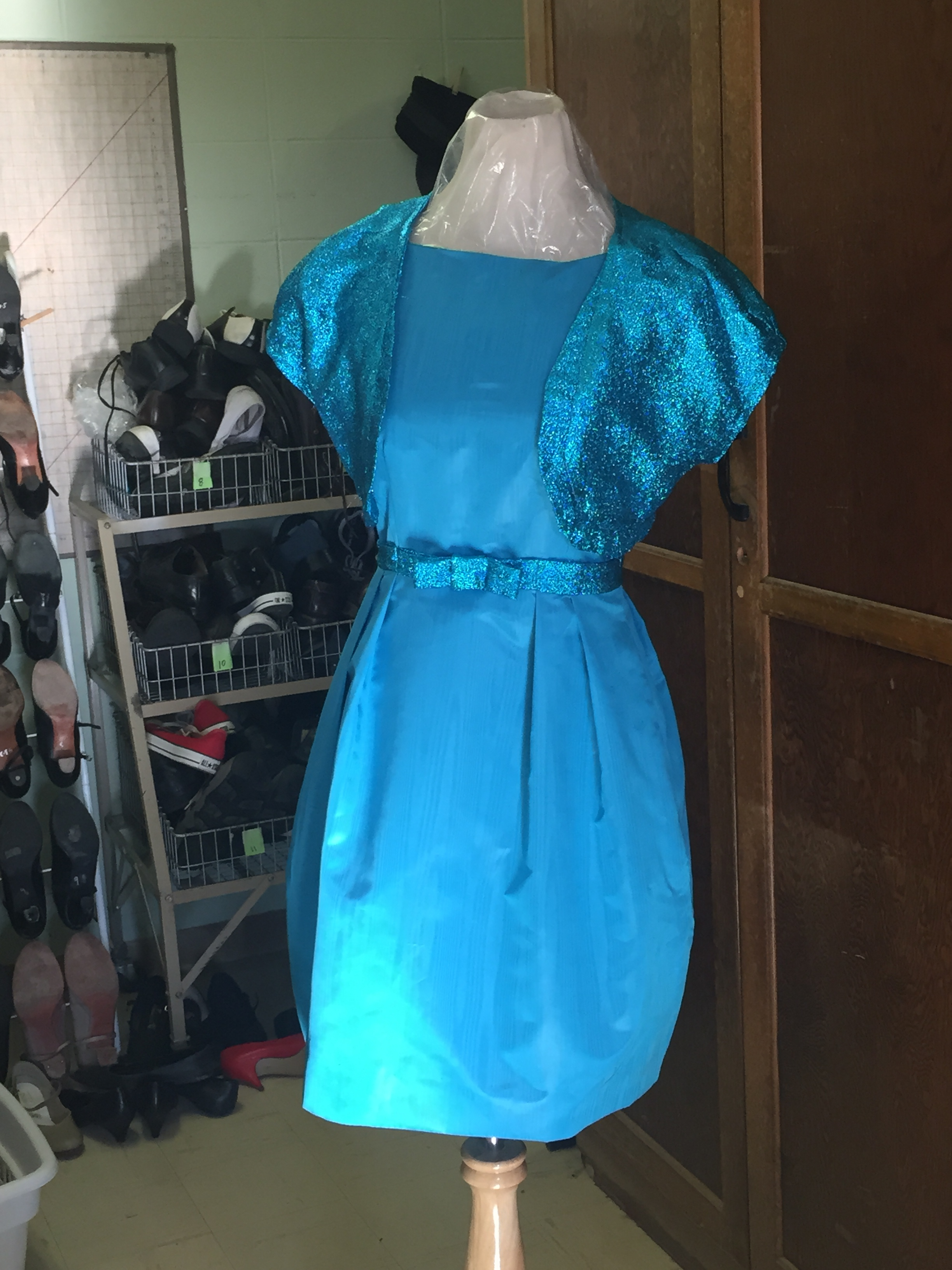 Cut and stitched dresses for Fort Peck Theatre's production of  One Man Two Guvnors.