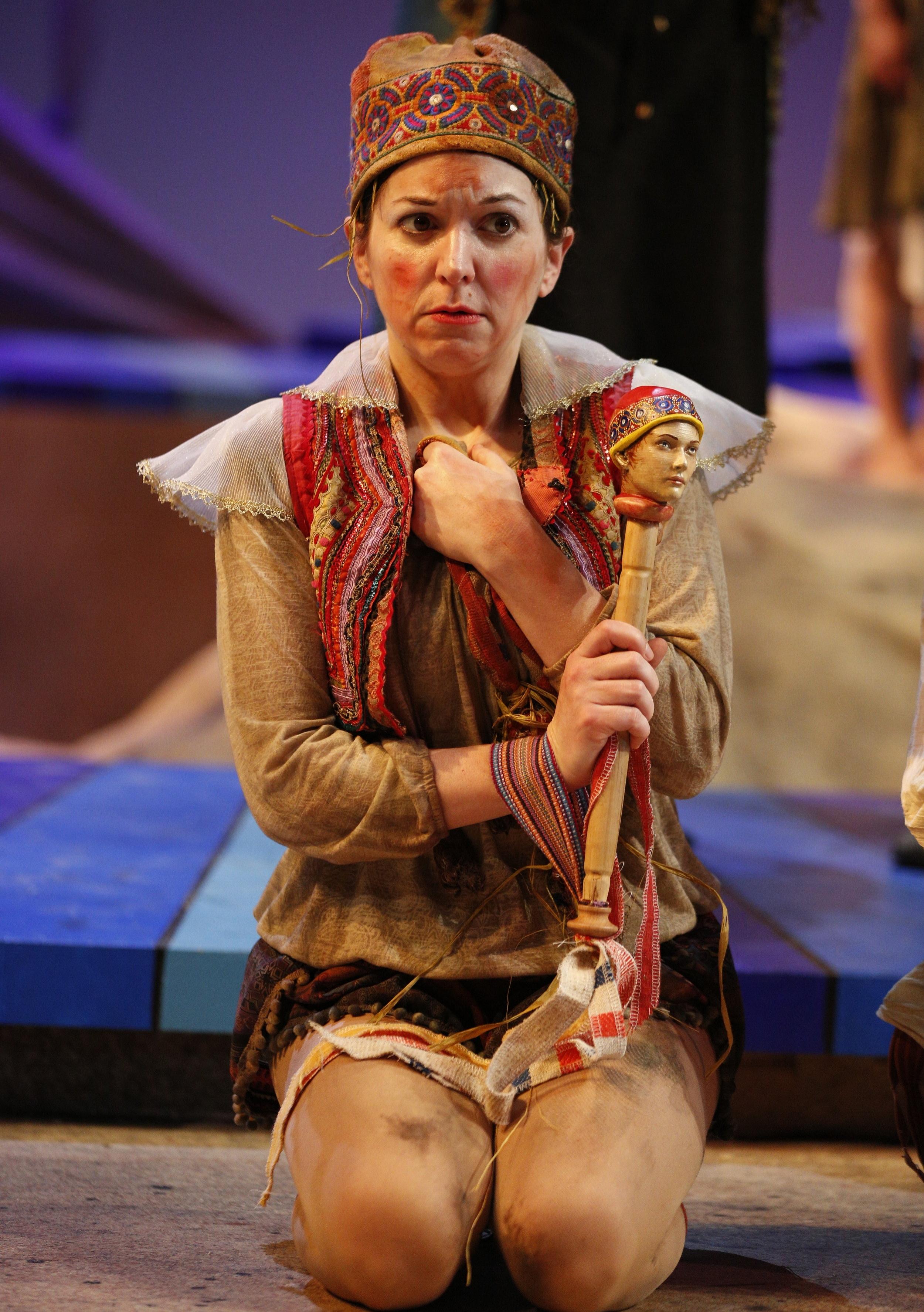 Tara Chiusano as Trinculo. Photo by:Jeremy Hogan
