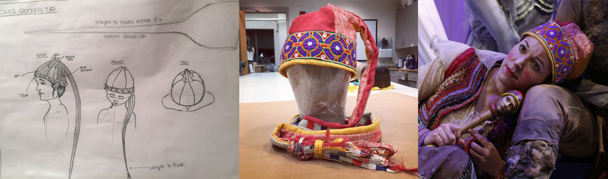 Trinculo's hat from  The Tempest . Designed, Patterned, and built by Courtney Foxworthy