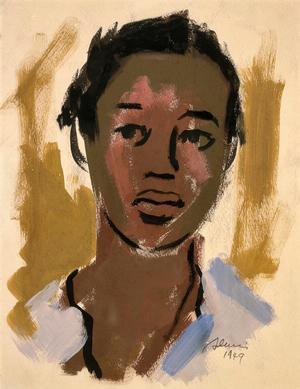Samella Lewis, Self Portrait, c. 1943