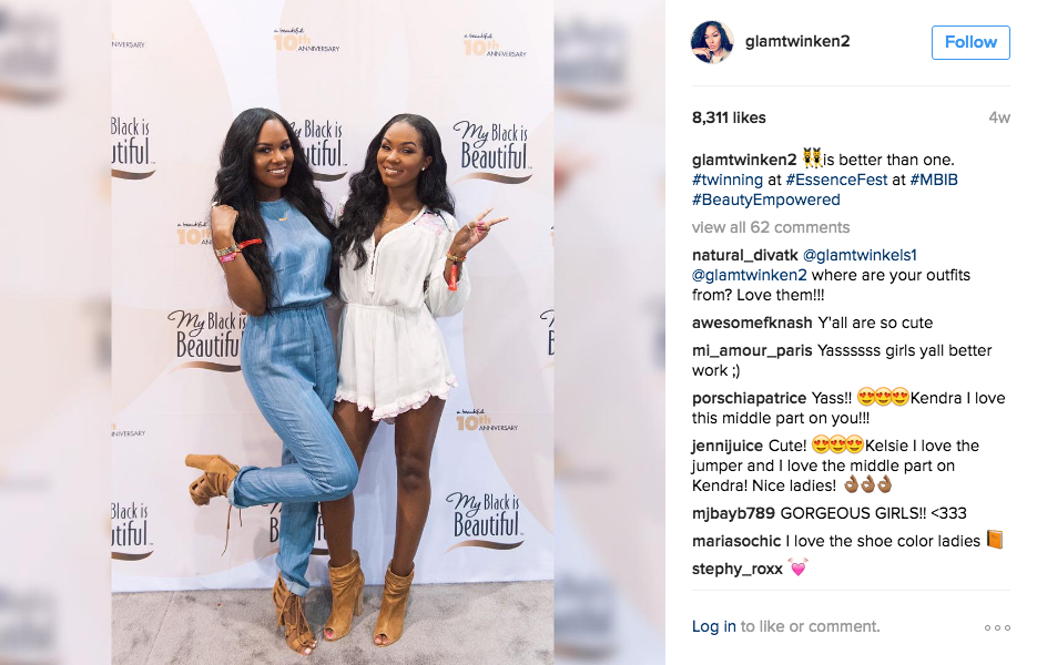 Everyone's faves Kelsey (l) and Kendra Murrell (r)at EssenceFest, also me and my sister in 6 years (claiming this as we speak.)