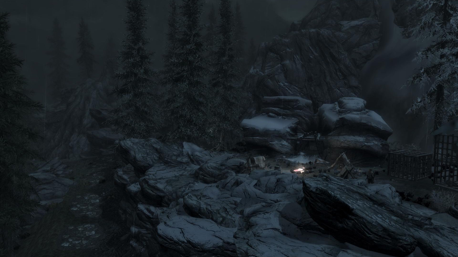 The location of the camp outside Whiterun.