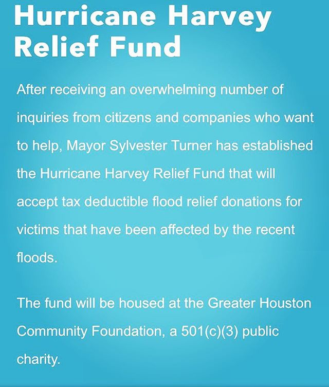 Here is one way you can help with the evacuees of #hurricaneharvey : Go to http://ghcf.org/hurricane-relief/ These floods have been DEVASTATING. Please help if you can.