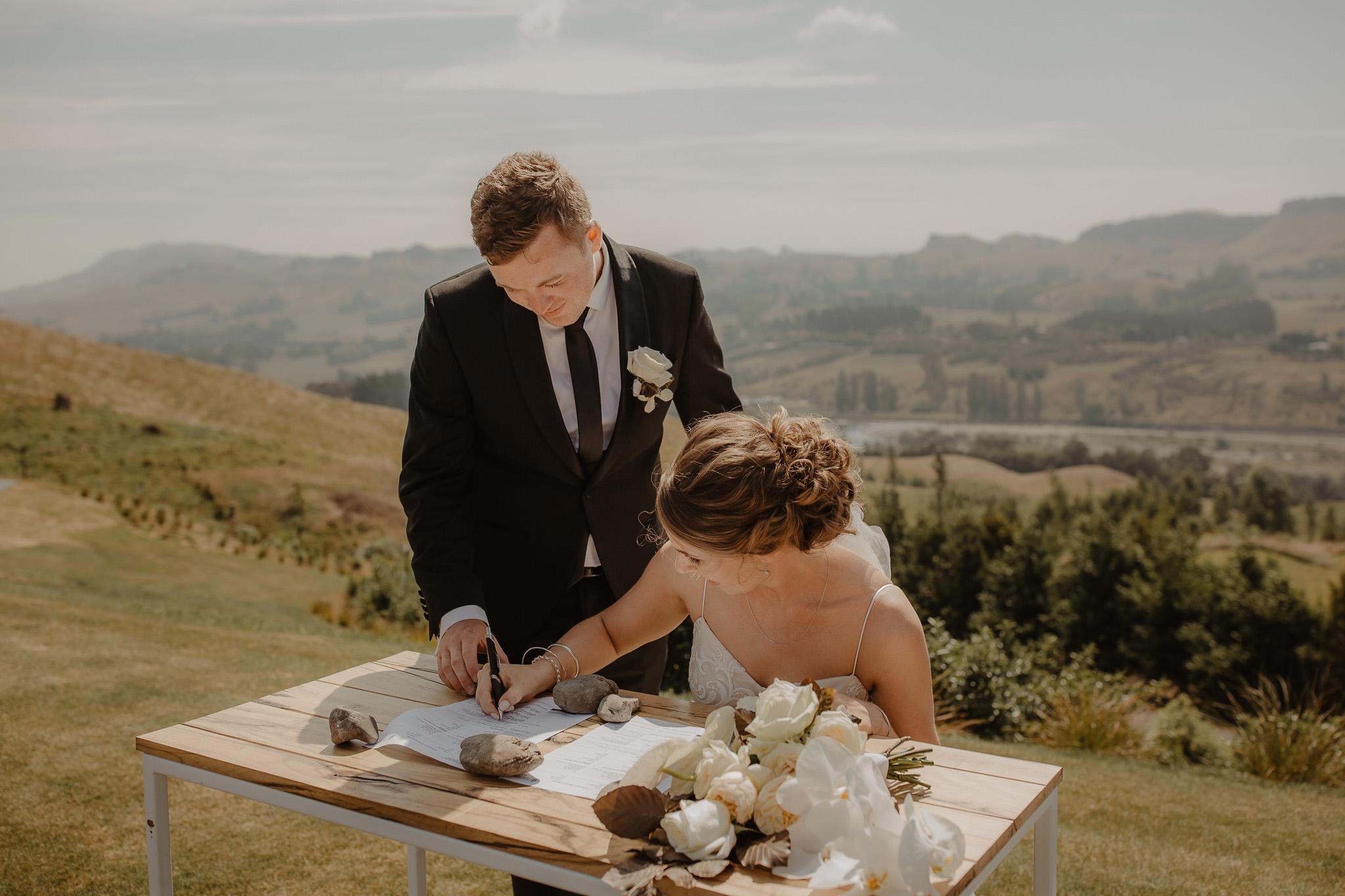 Wedding Marquee & Furniture Hire. Lynell & Josh's Wedding Singing, Hawkes Bay.
