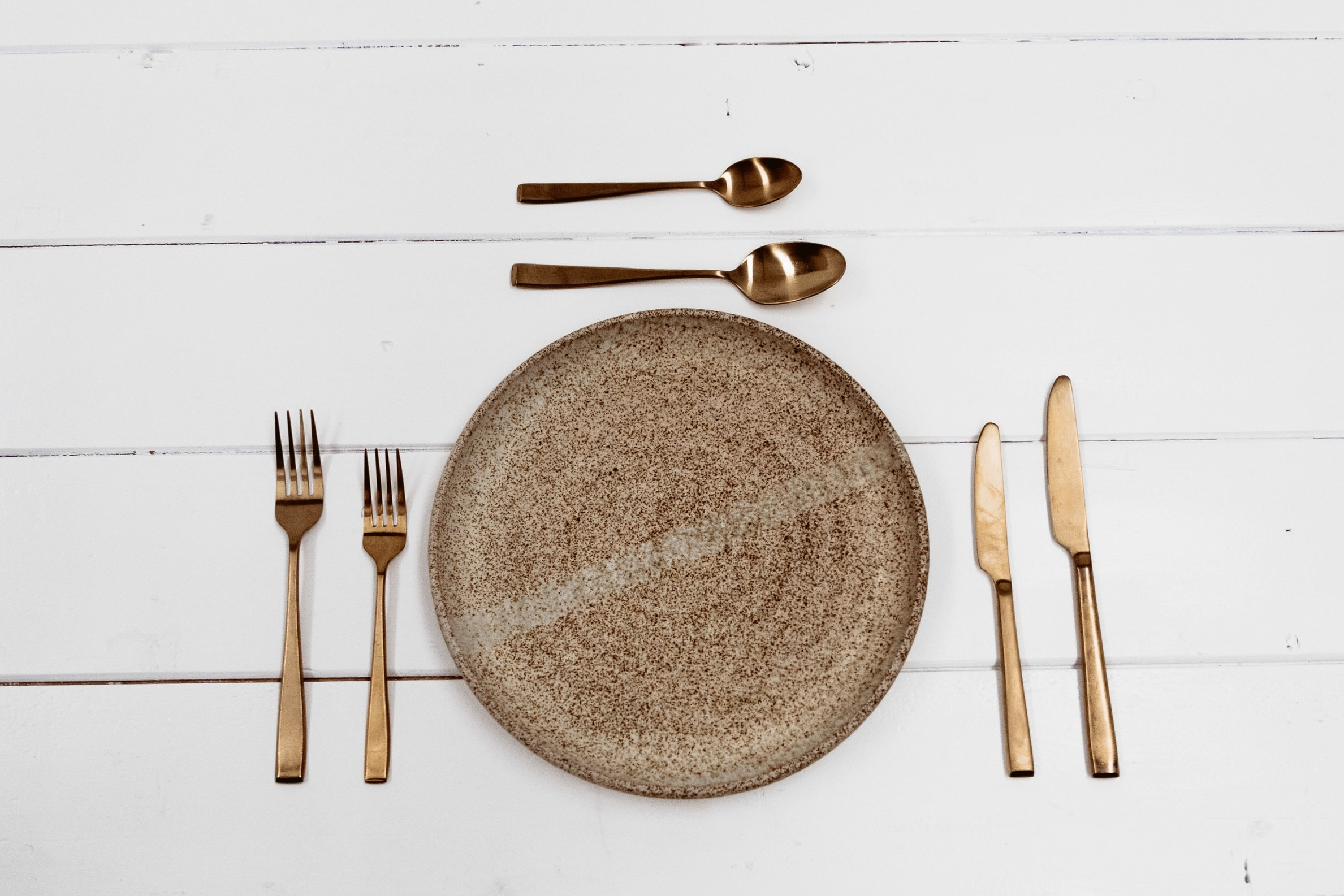 Wedding Hire, Tableware, Gold Matte.