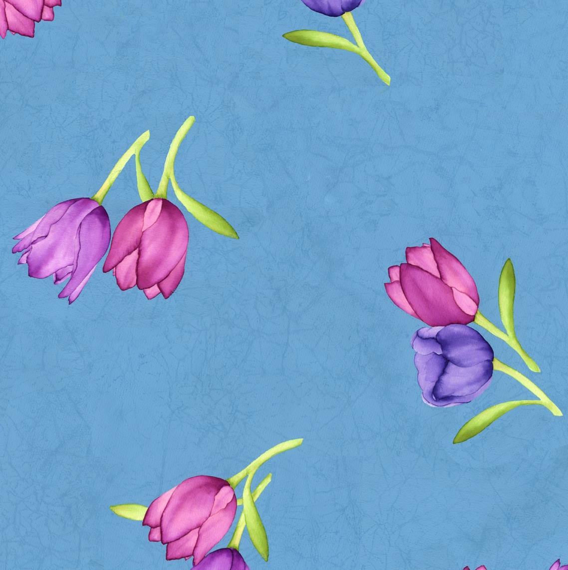 tossed tulips