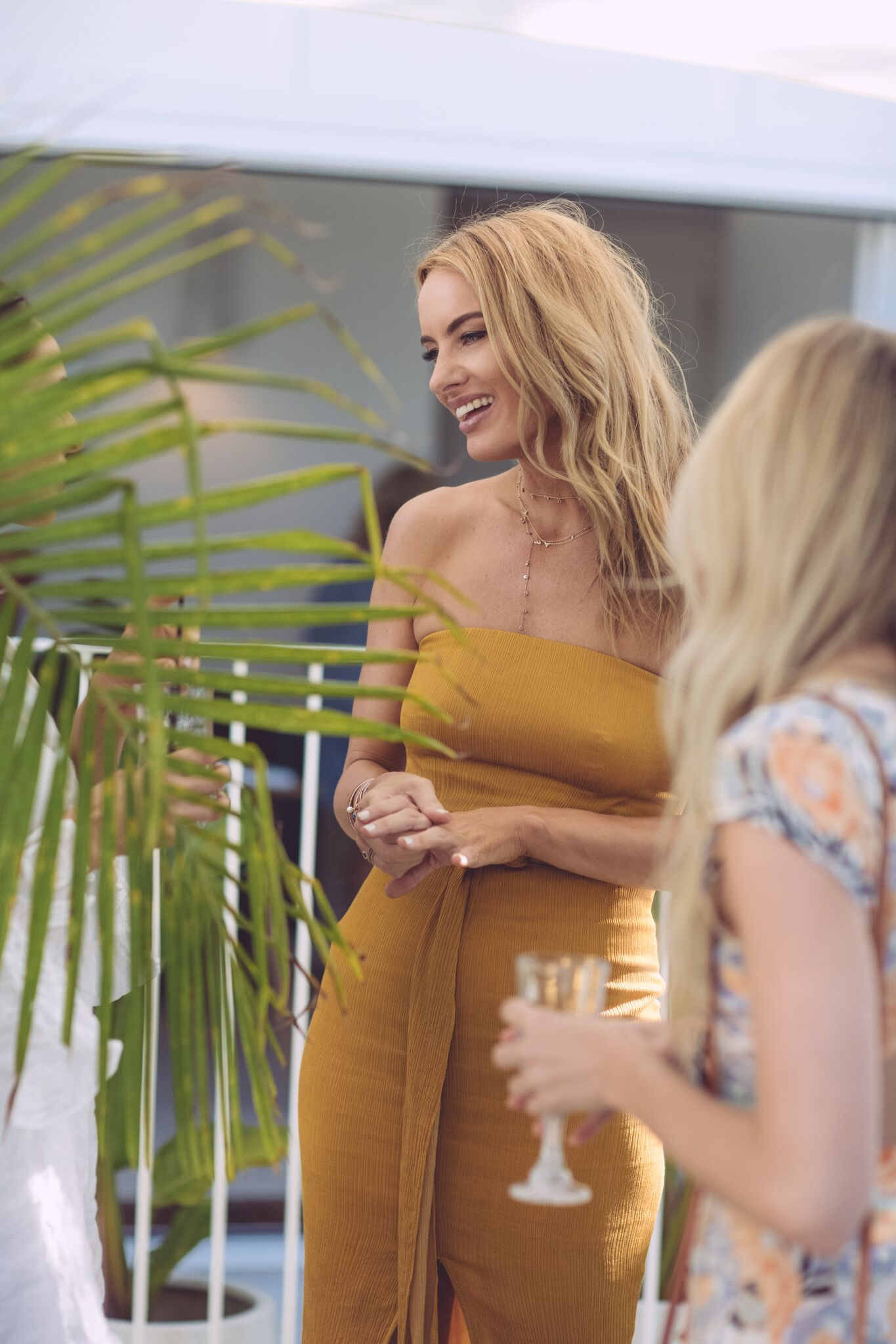 TALKING TO Guests & Media at the Launch event for the SAMANTHA WILLS for BILLABONG Collection, in Byron Bay, Australia.