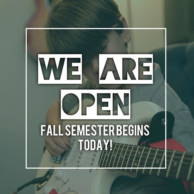 Fall Semester begins today! It's not too late to join in the action! Contact us today to sign up 🤘 #makemusic #musiclessons #musiceducation #hattiesburg #mississippi