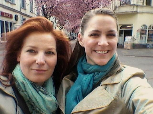 With mezzo Bea Robein in Bonn, Germany