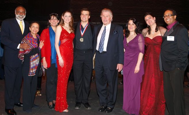 The winners and judges of the American Traditions Competition