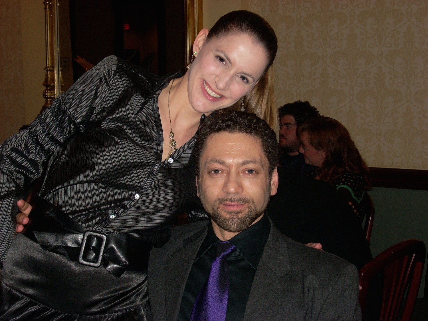 """With director Jose Maria Condemi at the """"L'elisir d'amore"""" cast party"""