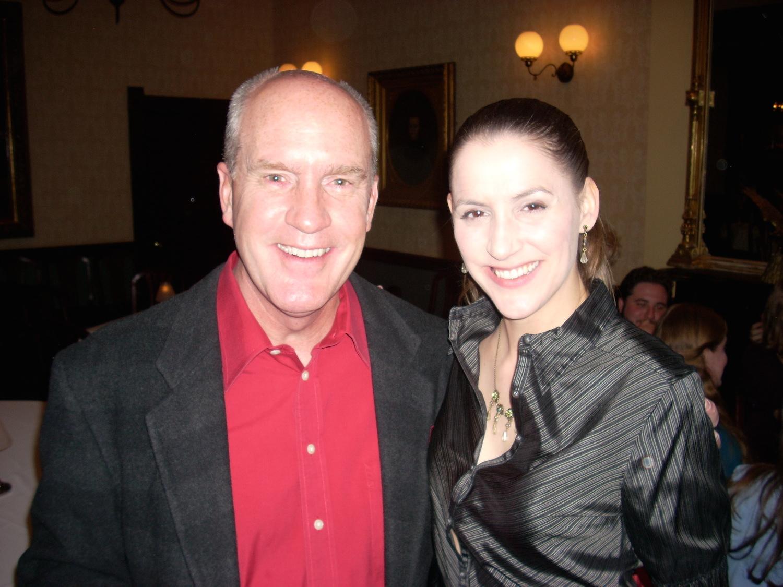 "With Sacramento Opera ""L'elisir"" conductor, Timm Rolek"