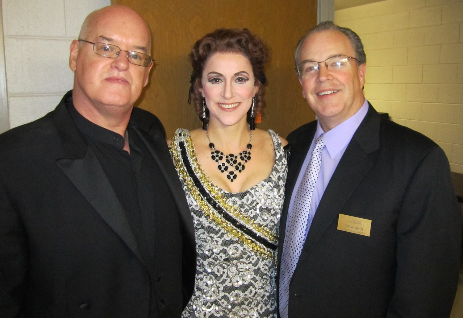 """With Jerry Shannon and Steve Aiken at Shreveport Opera's """"The Merry Widow"""""""