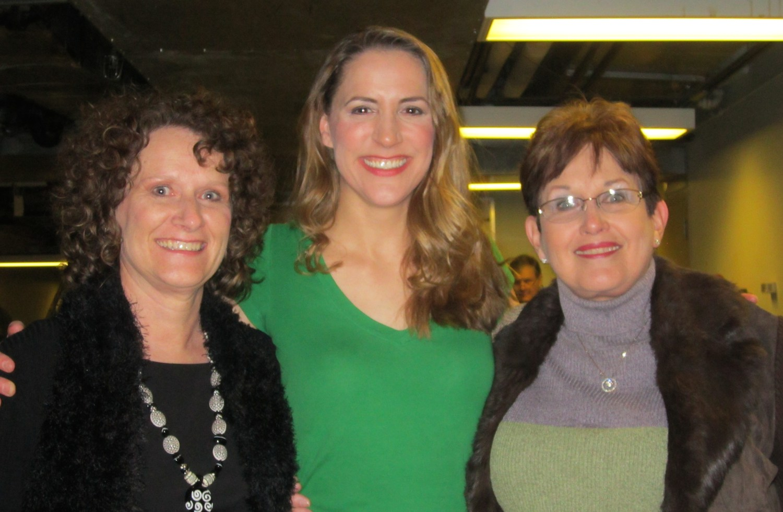 "With my high school and junior high choir teachers at Tulsa Opera's ""The Most Happy Fella"""