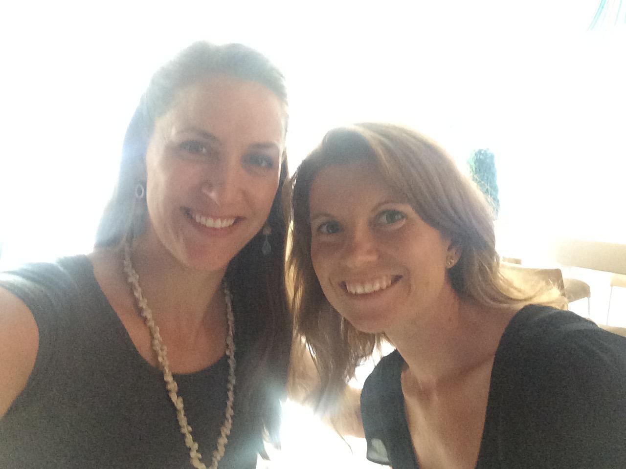 With friend and mezzo soprano, Amanda Crider