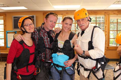 """The """"Master Class"""" cast goes zip lining!"""