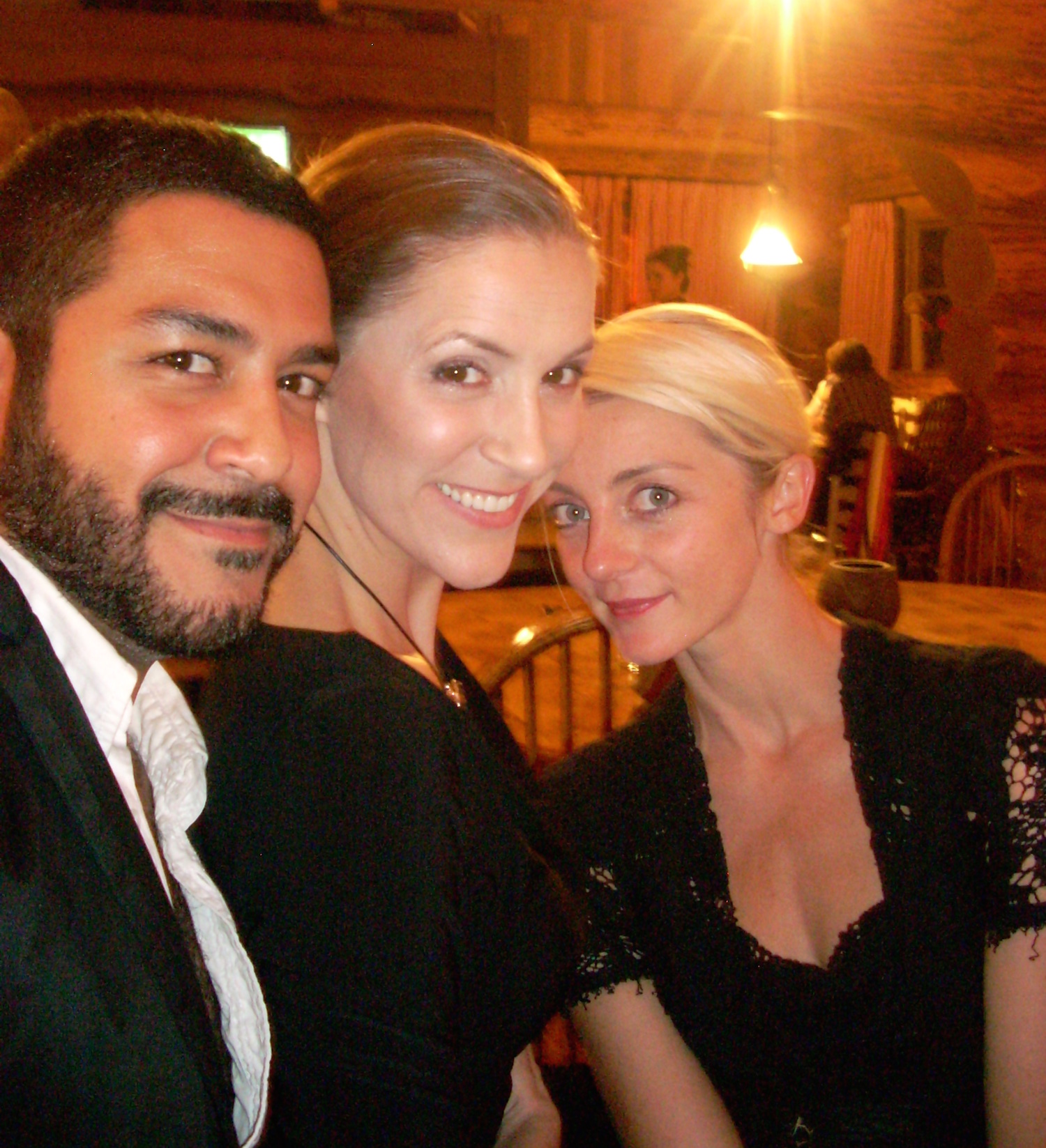 """After an """"Opera Show"""" performance with tenor Jesus Garcia and dancer, Amber Doyle"""