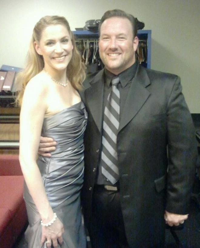 With Scott Ramsay back stage at Symphony Space in NYC
