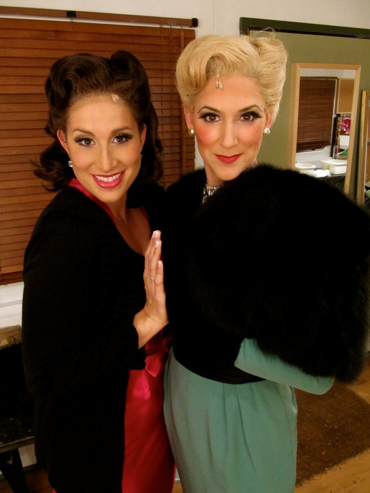 """With Janette Zilioli back stage at """"The Opera Show"""" in Kilworth, England"""