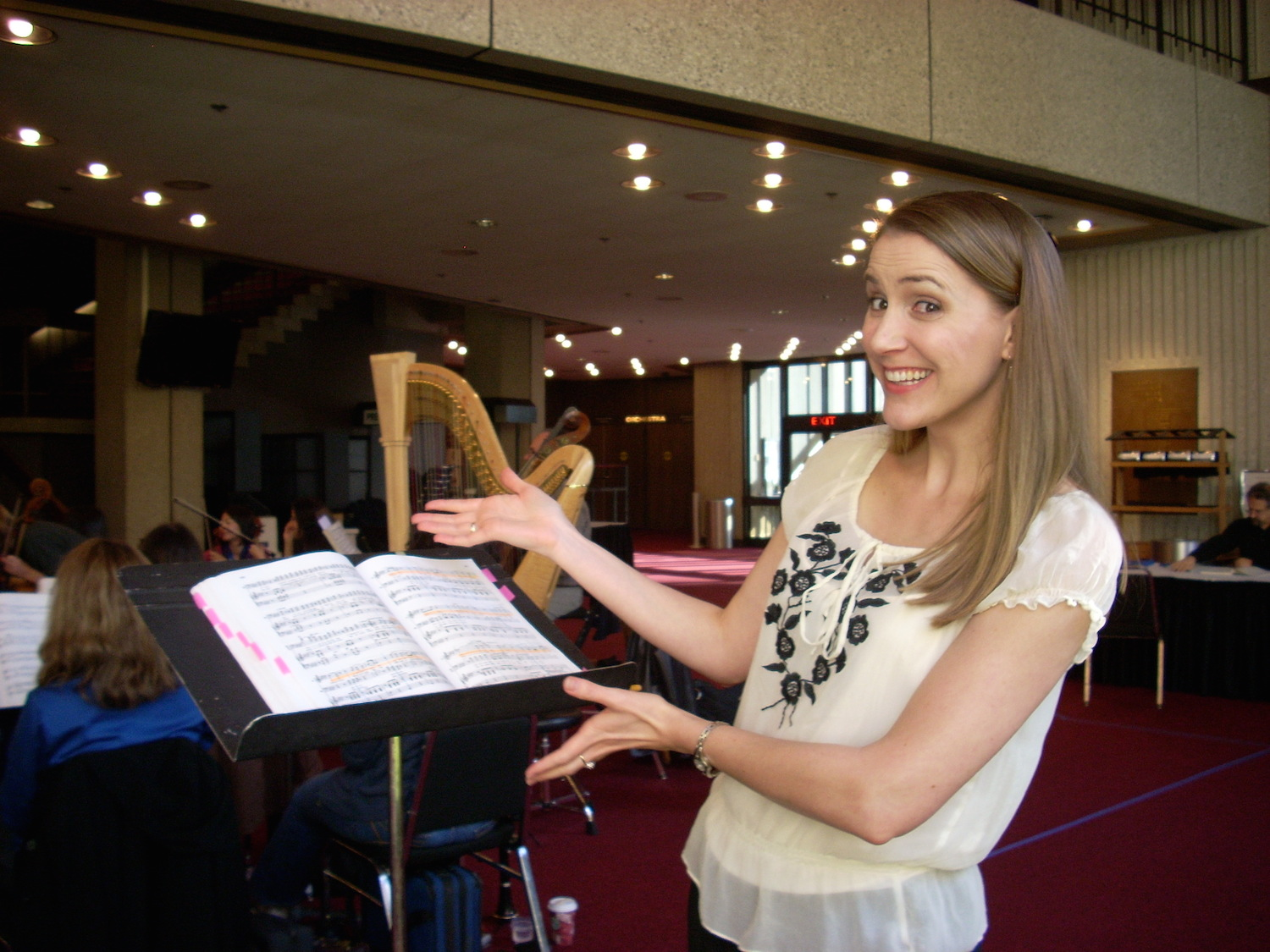"""At the sitzprobe for """"L'elisir d'amore"""" with Sacramento Opera"""