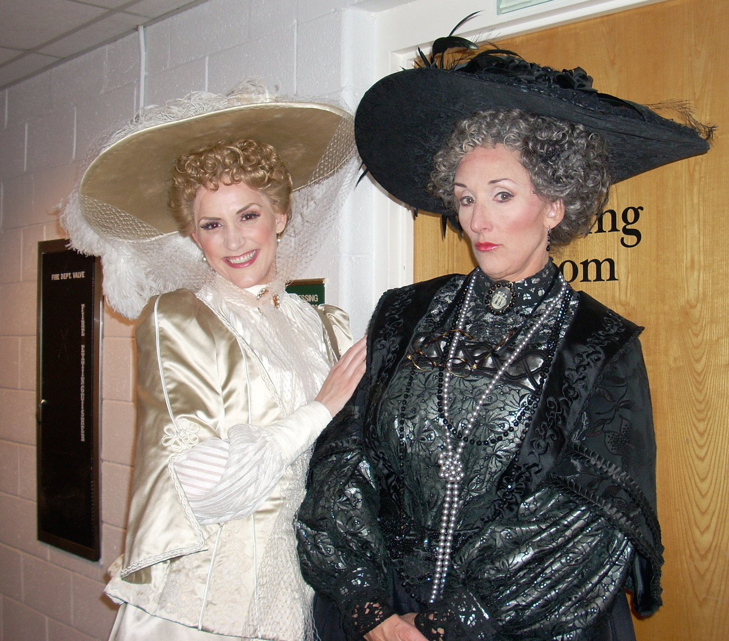 """With the fabulous Dot Byrne back stage at Florida Grand Opera's """"Lakmé"""""""