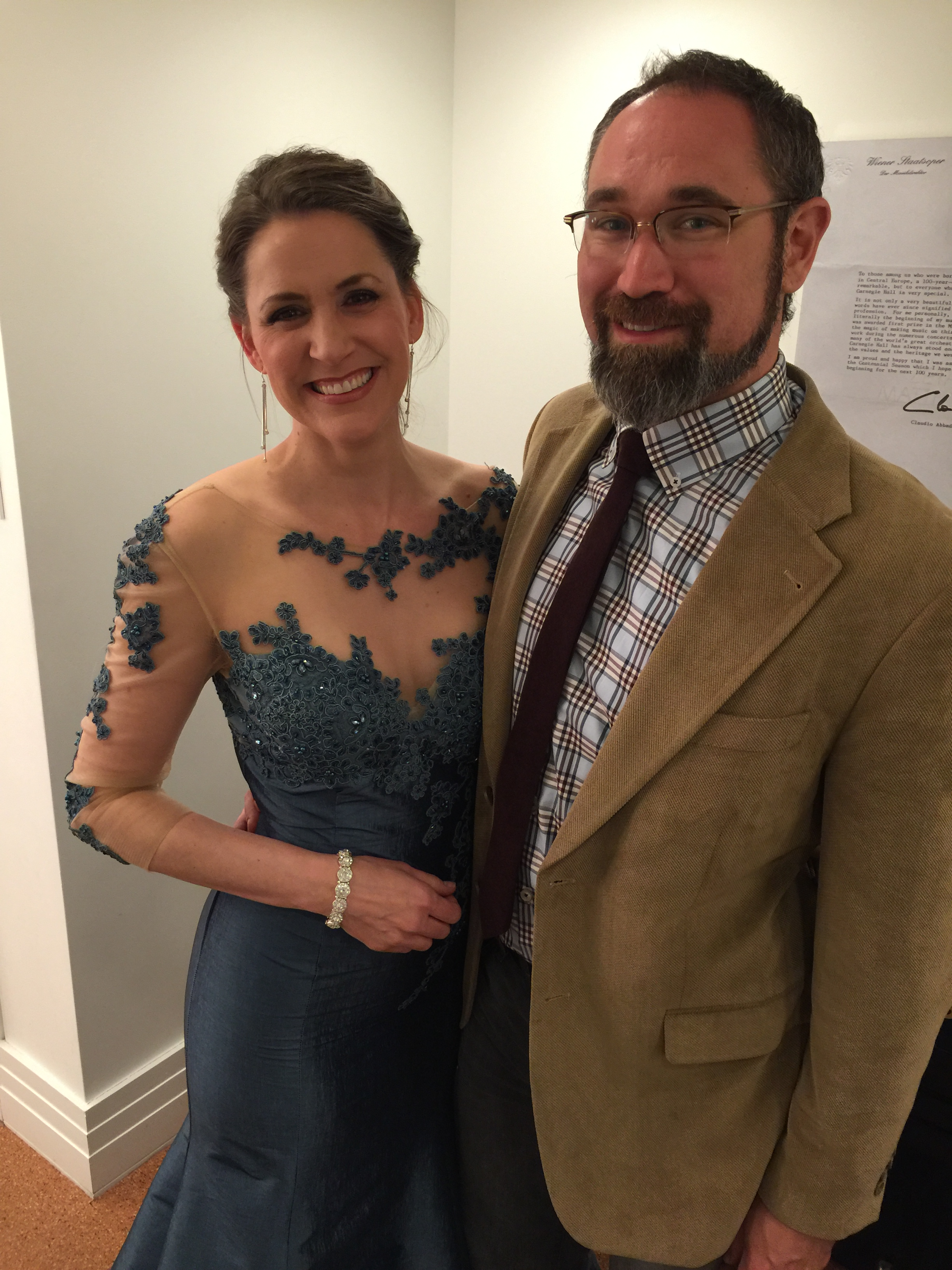 With my better half at my Carnegie Hall debut