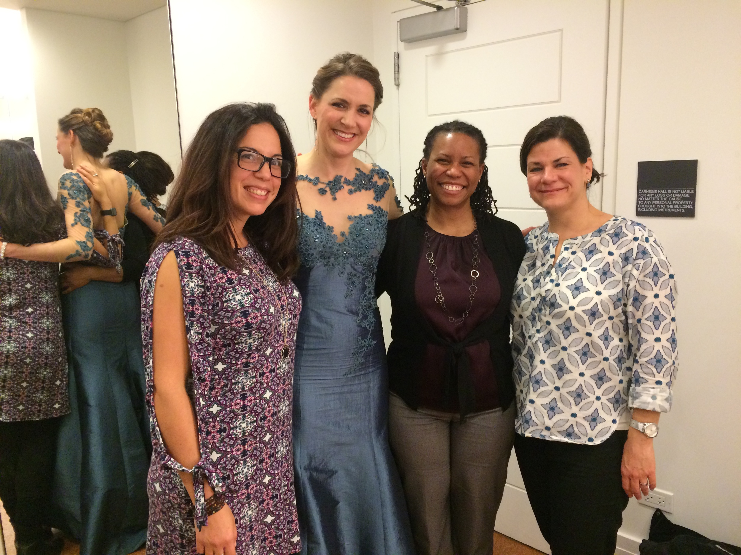With manager Ana De Archuleta and my dear friends at Carnegie debut