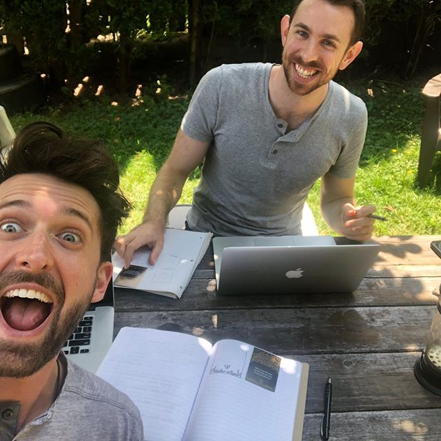 Grey Henley day at the outdoor office this Saturday. We CAN'T WAIT to get the next production run (with some slick design tweaks) to you later this summer!! . #flusterlife #kickstarter #getflustered #workhardplayhard