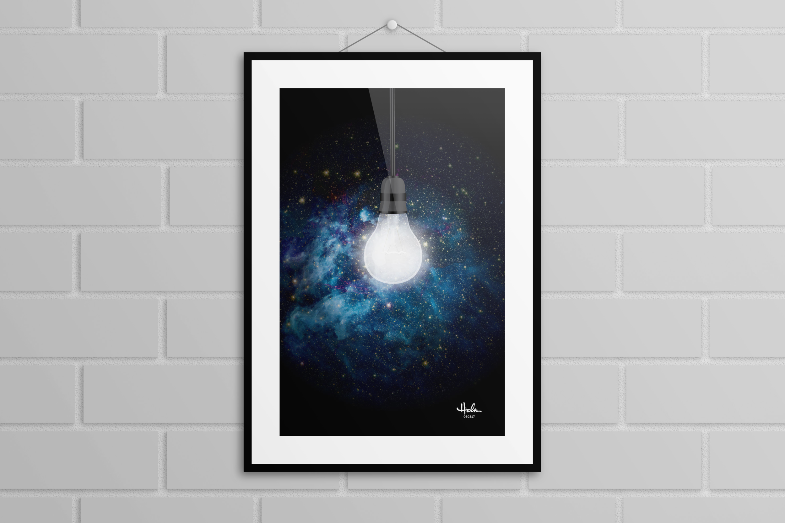 """""""10 Zillion Light Years Away"""" Poster - Various sizes $20+"""