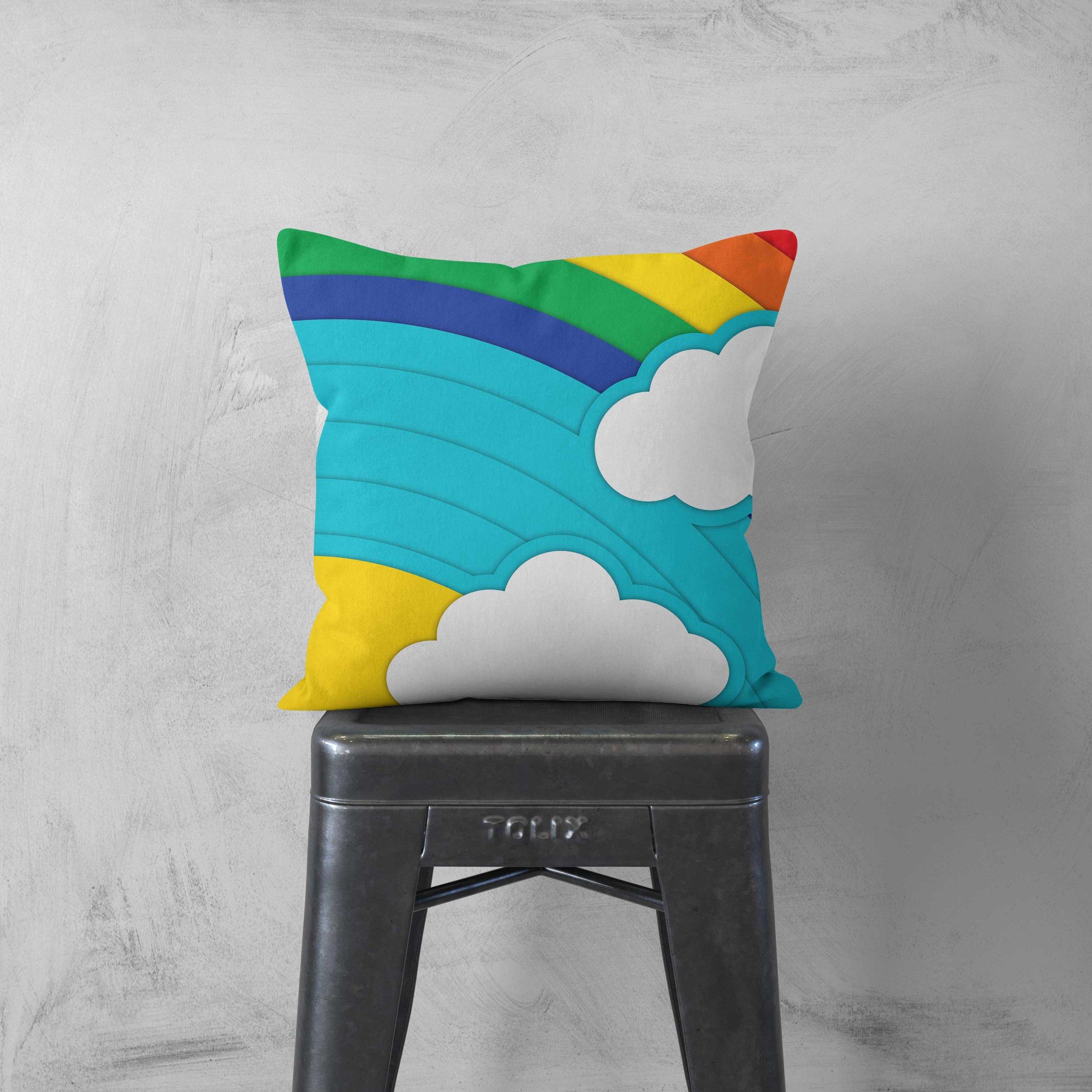 """Somewhere Over the Rainbow"" Throw Pillow - $28"