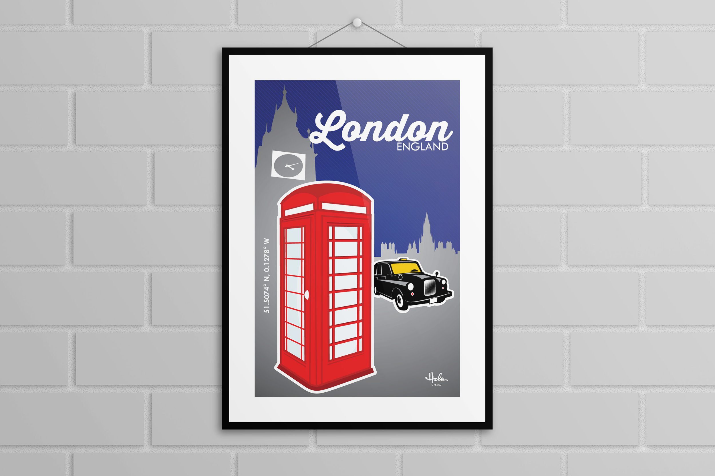 """London"" Poster - Various sizes $20+"