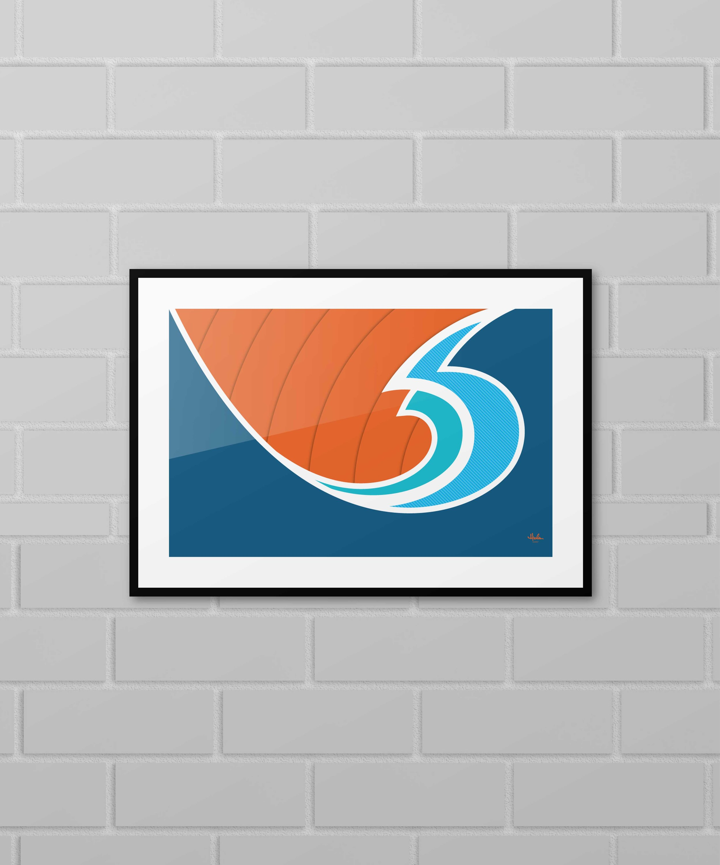 """""""Ride the Wave"""" Poster - Various sizes $20+"""