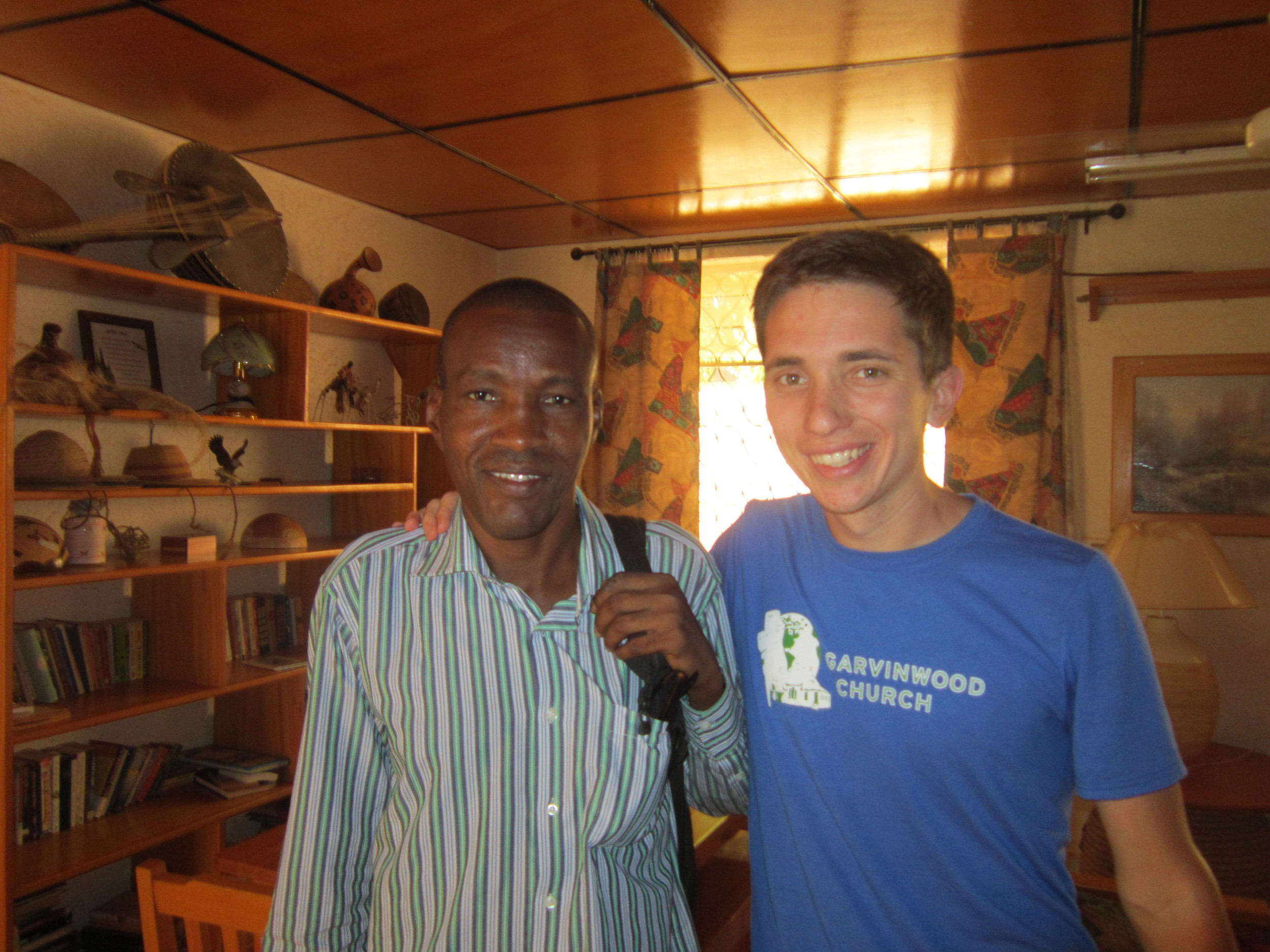 Me with my translator on my most recent trip to Africa at the end of 2015. Such great hospitality!