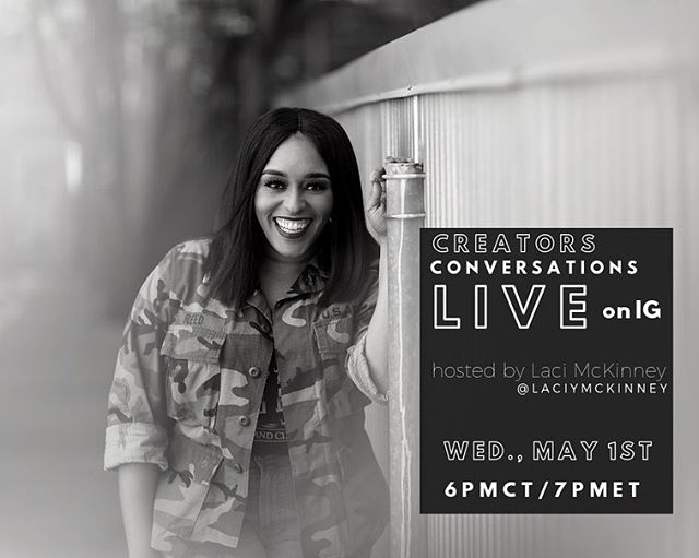 "Creators Conversations Live hosted by @laciymckinney of The People's Voice Creative Agency @thepeoplesvoiceagency kicks off on May 1st  6pm CT/ 7pm ET featuring Sakita Holley of House of Success PR. Creators Conversation Live will feature dope creatives from around the world giving us a chance to share a little knowledge about entrepreneurship, life, and everything in between. . . Join us for an authentic conversation on as @misssuccess will share her perspective on ""Giving Up Is Not An Option"". We can't wait to talk to this PR Powerhouse! . . Mark your calendars for May 1st at 6 pm CT/7pm ET as we go live on IG and invite you into the conversation! #creatorstalklive"