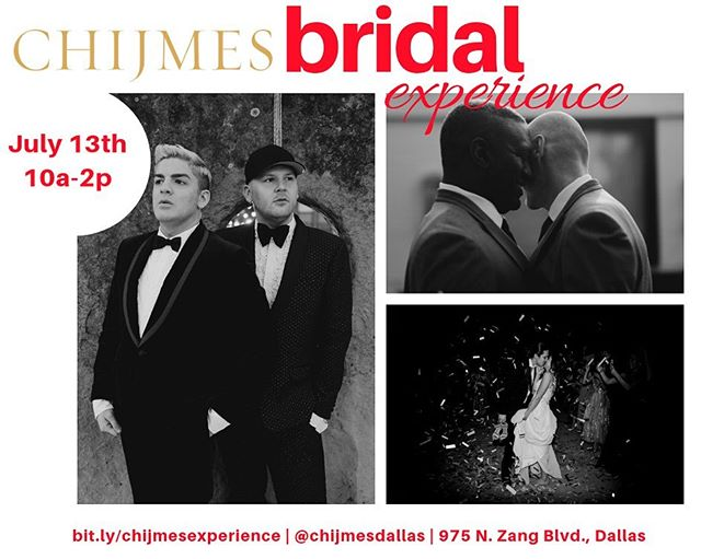 Chijmes Bridal Experience, hosted at Chijmes Dallas on July 13th from 10 am to 2 pm, is a 1-day event that combines wedding traditions, the fun twists, and love; bringing together Brides, Bridesmaids, Mothers of the Bride & Mother-In-Loves of North Texas to experience the Chijmes space and meet & greet our preferred vendors.  The event will include 10 am - Open House (vendors and lite bites) @farmtomarketcatering  @whitegownworkroom  @sugarcitycelebrations @beyondthebox_weddings  @fetefully_  @labphotobooth  @familia_events_dallas  @theleitzingers  @we.the.birds  10:15 am - Wedding Ready Fitness Class  by @bebalancedretreat @barreinyourbedroom  11:30 am - Wedding 101 Tech Class by @fetefully_  And music by @violinrichmond  We hope to make this a truly unique event in Oak Cliff.  If you are interested in being a partner of the Chijmes Bridal Experience, contact Laci McKinney, laci@thepeoplesvoicecreative.com.