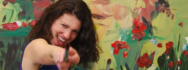 Lael Har - Lael Har's inspiration from nature and the study of healing arts transforms into vibrant texture and color. The impasto application of acrylic paint creates movement and a sculptural effect in her work. She often paints wet on wet with big brushes, pallet knives, and spatulas allowing the viewer to experience the energy of every stroke applied. Lael's process of painting is intuitive and guided by the moment to moment aliveness experienced in the dance of creating. She delights in the unfolding of the creative process that brings embodiment and present awareness into being. In Lael's paintings inner and outer landscapes transform into brilliant contemporary canvases.