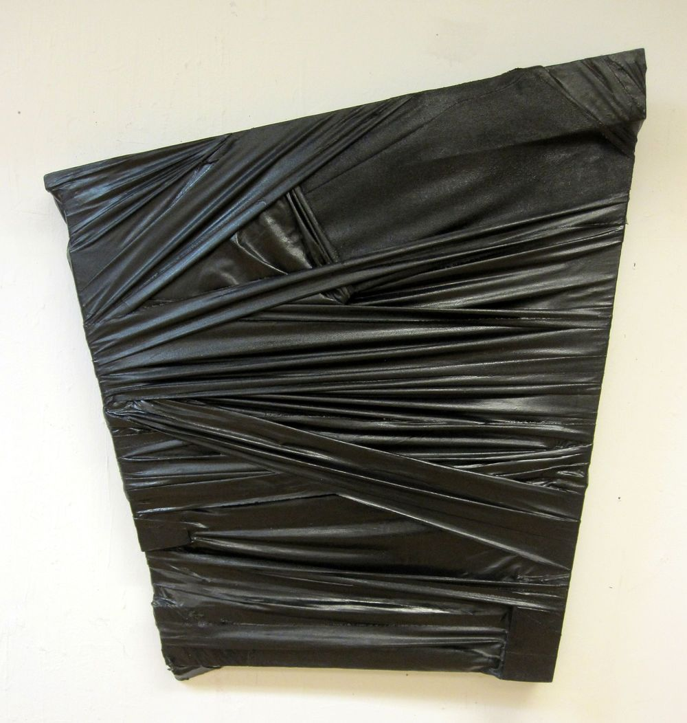 "Bound Structure 2, 2013, acrylic on fabric over wooden frame, 31"" x 29"""