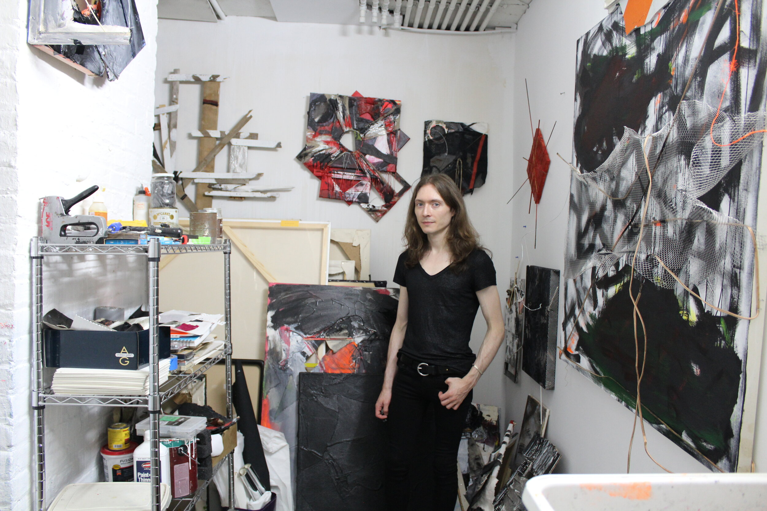 Alex Markwith in his studio