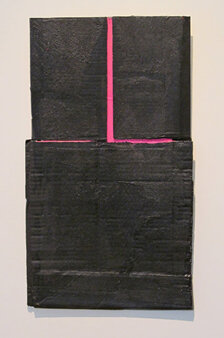 Alex Markwith, Untitled (Black with Pinks), 2013, 22 x 13""