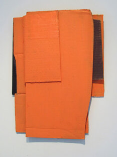 Alex Markwith, Untitled (Small Orange), 2013, 18 x 13""