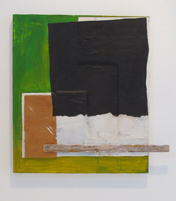 Alex Markwith, Untitled (Work on Canvas with Green), 2012