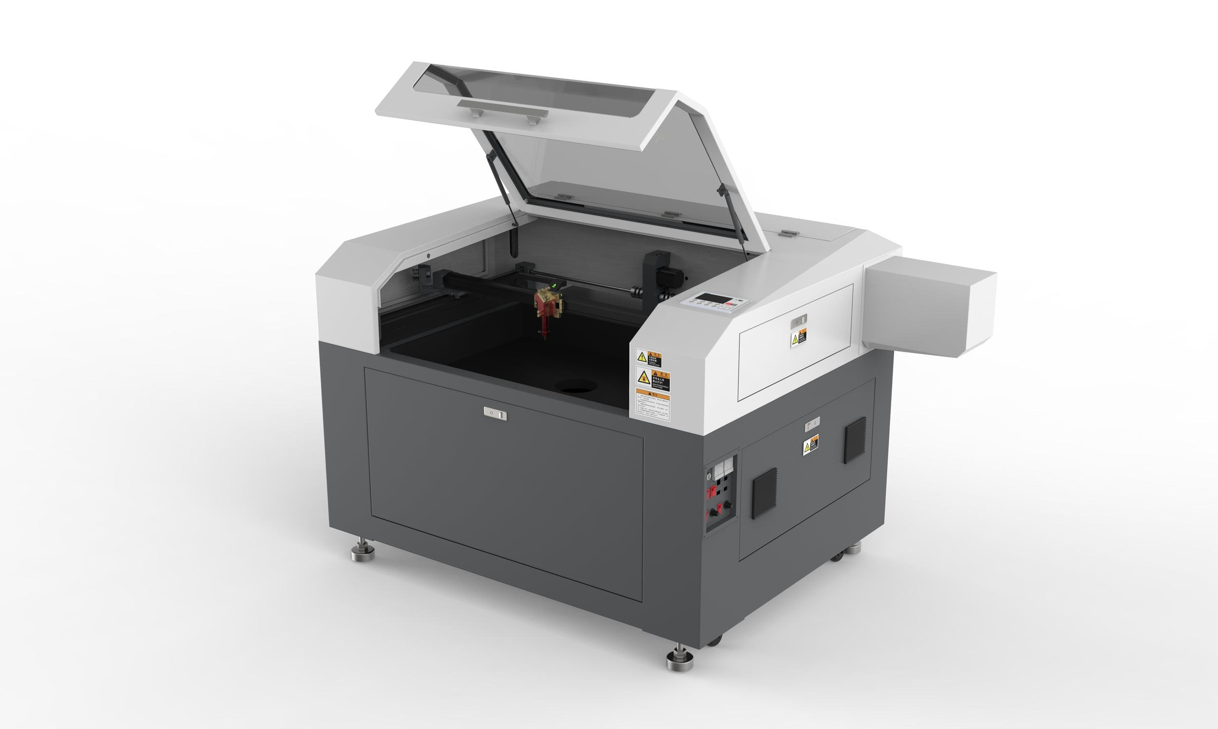 SP-9006S - SP-9006S is our most popular unit. Perfect for small sized business. Equipped with the best quality components, the SP-9006S can cut and engrave at high speeds with high-resolution.Like all other Spark machines, it is comes standard with the SparkWarranty.
