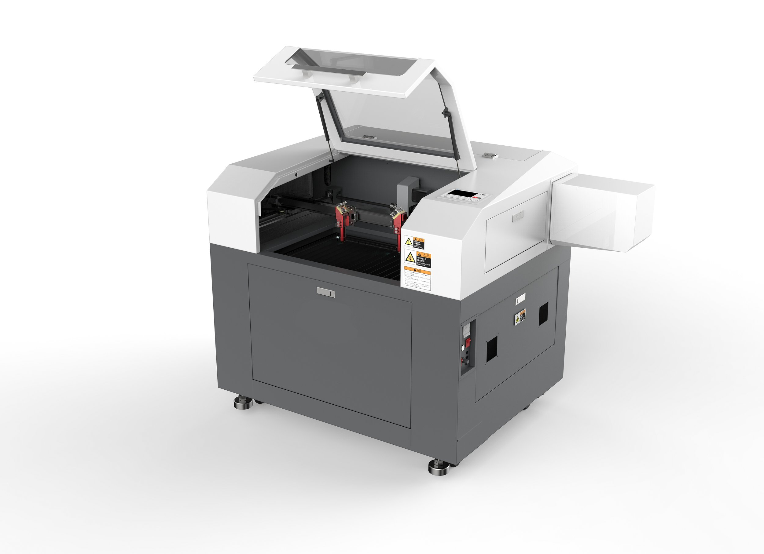 SP-6004 - is our smallest stand alone CO2 laser . Perfect for small sized business, engraving or prototyping. Equipped with the best quality components, the SP-6004 can cut and engrave at high speeds with high-resolution.A full colour display allows you to see and interact with the machine and your designs while they are being processed via the live feedback feature of the machine.