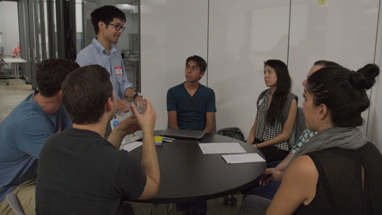 Tim Phan  facilitating one of the SME/participant groups