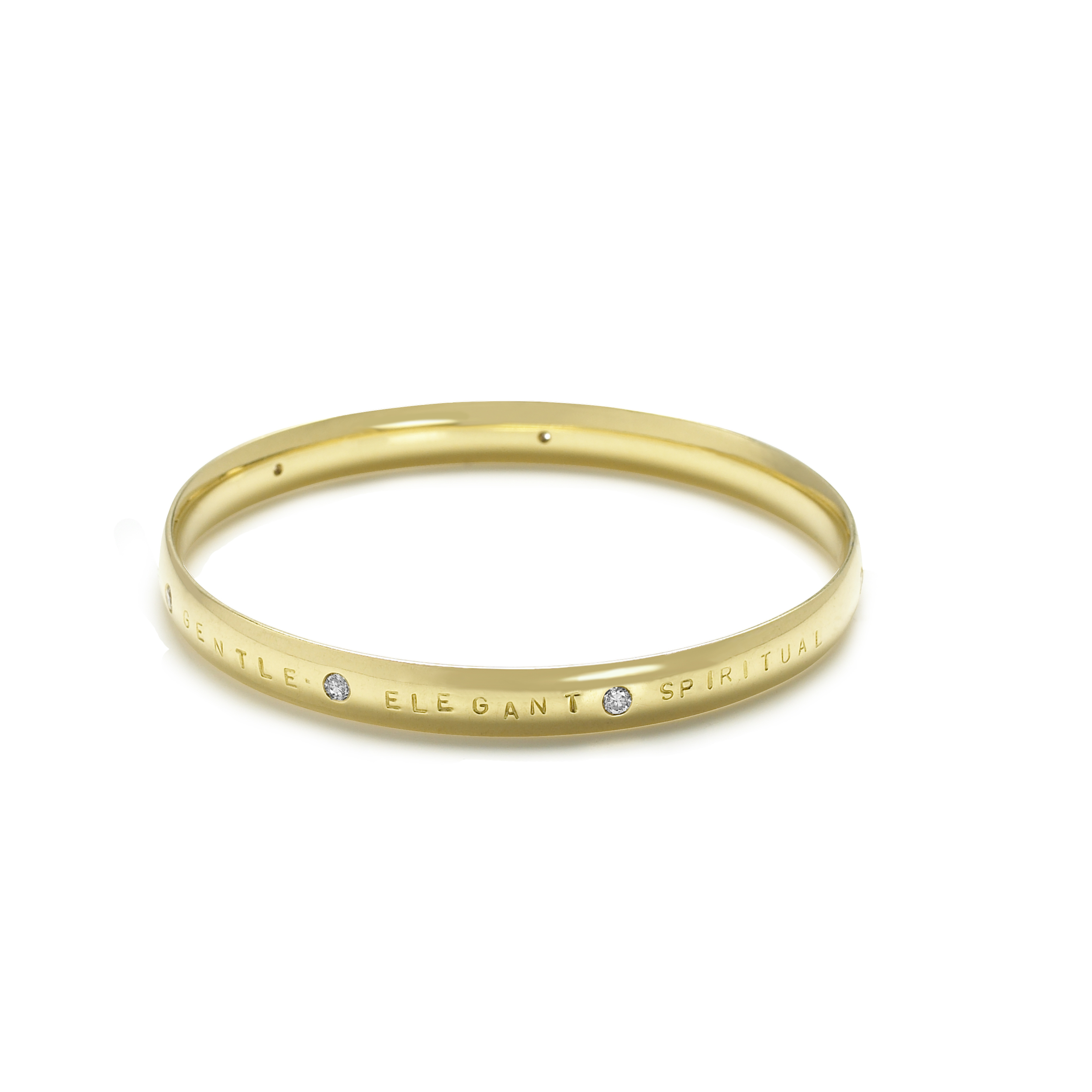 18ct Yellow Gold Bracelet Bangle with Diamonds